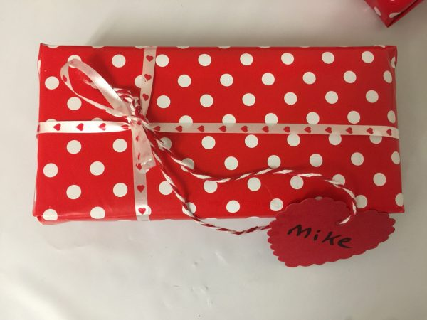 Valentine's day Gift Wrap with Name