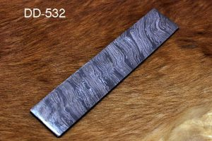 "10"" long custom made flower pattern hand forged Damascus steel bar"