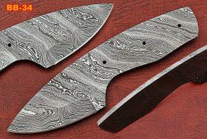 spear point Damascus steel